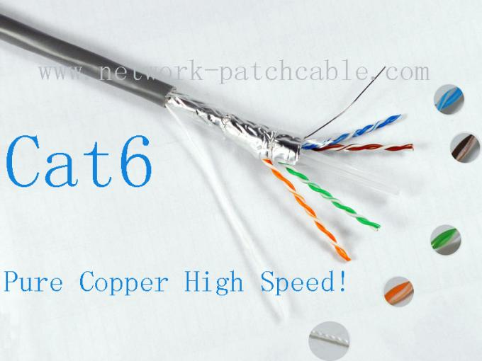 High Speed 4P External  Lan Cable Cat6 Outdoor Shielded Cable