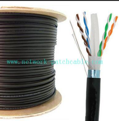 Shielded Cat6 Ftp Cable Cat6 Outdoor Ethernet Cable Long Transmission Distance