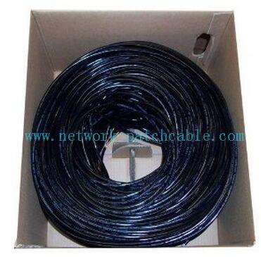 UTP Outdoor Cat5e Cable 24AWG Cat5e Outdoor Waterproof Ethernet Cable