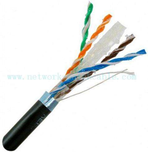 External Grade Ethernet Cable Outdoor Cat6 Cable with Braid Shield