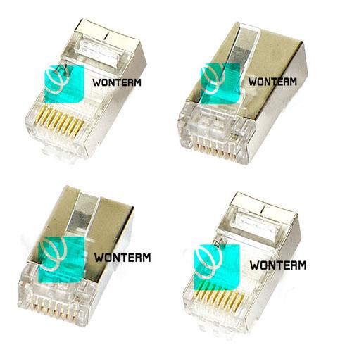 Rectangular Rj 45 Network Jack 8P8C Shielded Cat5e / Cat6 Patch Cord Modular