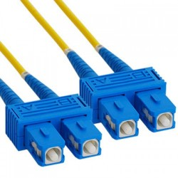 Multimode Fiber Optic Cabling Fiber Patch Cables OM3 LC-SC-DX ROHS