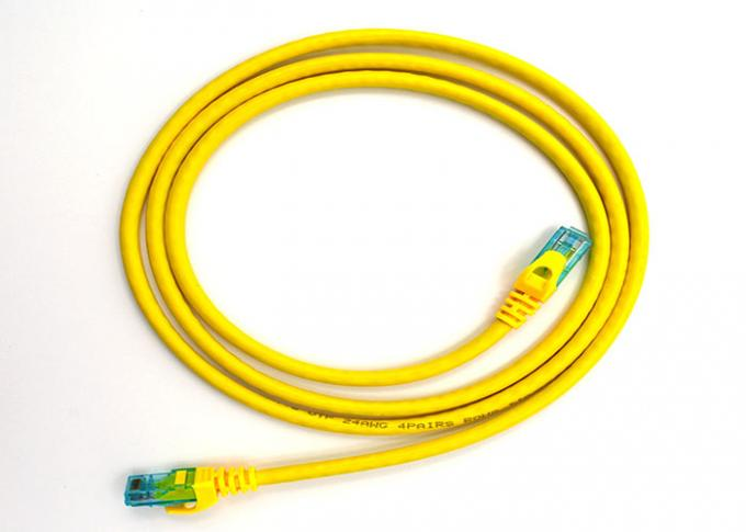 Cat6 Patch Cables UTP 7*0.2mm  copper pass fluke with RJ45 Plug yellow