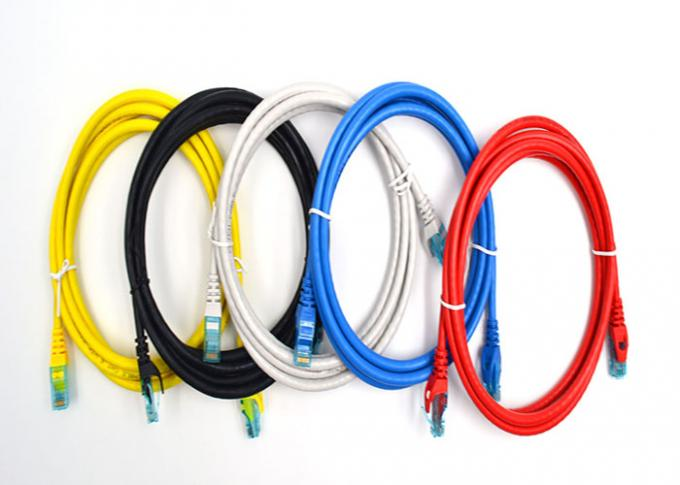 Ethernet cat6 utp patch cable Pack of 5 Black / Blue / Grey / Red / Yellow 7*0.2mm