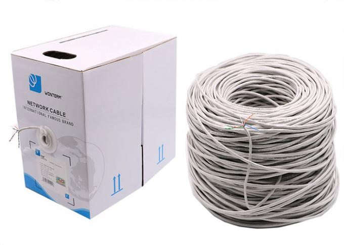 Ethernet Network Cat5e UTP Cable with Solid Conductors , Single jacket