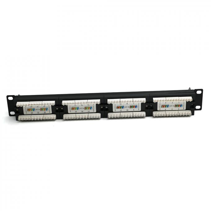 WONTERM Unshielded 19'' 24 Port Cat6 Patch Panel ABS-UL-94V0