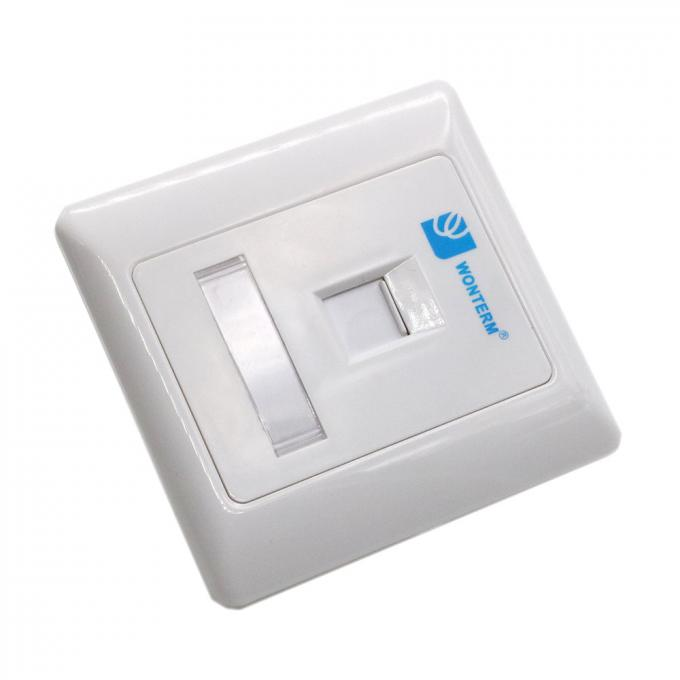 Wall Mount RJ45 Socket Single Port Keystone Faceplate 86*86mm