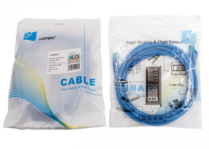 Transmission High Speed 23AWG 3 ft Shielded Cat6 Patch Cables UTP Ethernet Cable 50 Micron Gold Plated