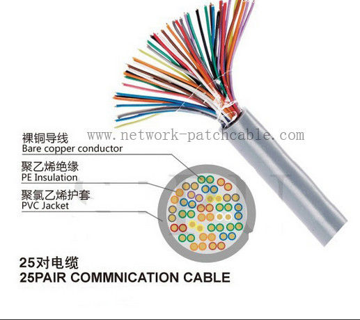 jelly RJ11 j45 rj12 Cat3 Telephone Cable Telephone Cable 25 Pairs with CE, RoHS, ISO