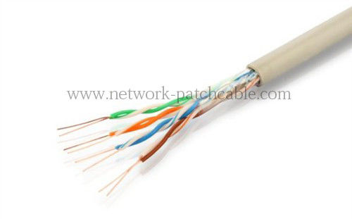 PVC Gray Cat5e UTP Cable 24AWG 0.45mm CCA Ethernet  Cable 305 m/roll