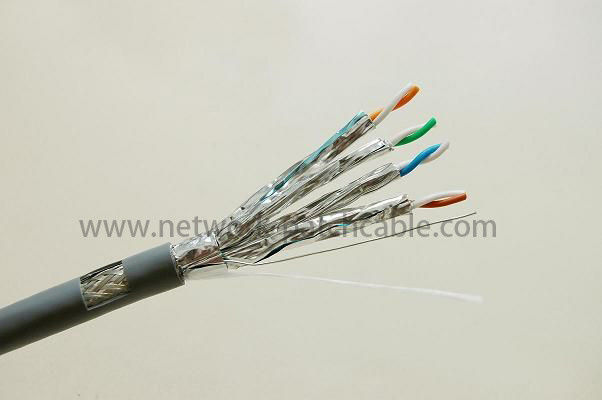 32AWG Cable SSTP Cat 7 Network Cable Flexible Golden Plated Flat SSTP