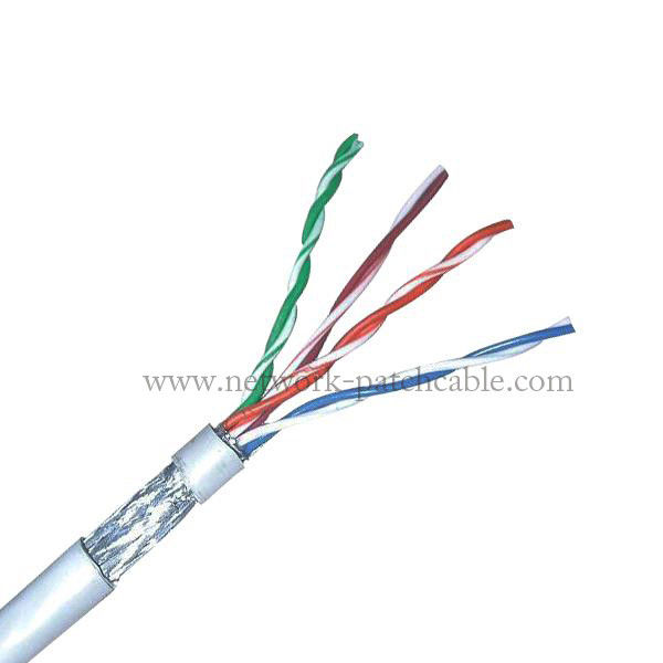 Indoor Cable FTP Cat 5E Hight Speed 4Pr 24Awg CCA Cable 305M Per Roll