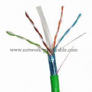 Green 4 Pair 23Awg Outdoor Cat6 Ethernet Cable Cat6 Crossover Cable