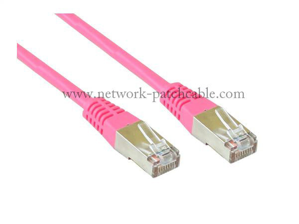 High Speed RJ45 / RJ11 Round Cat5e Patch Cables SFTP Bare Copper Or CCA