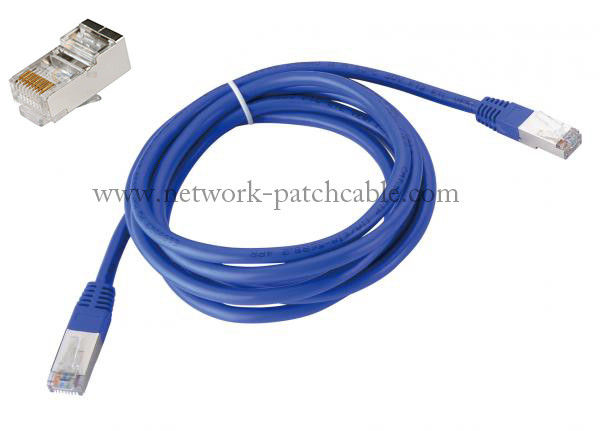 Blue SFTP Network Cable Cat7 Patch cord 4 Pair 22AWG Cat 7 Flat Cable