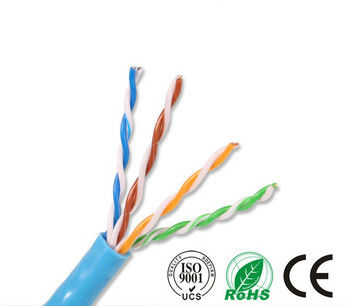 RoHS CE ISO Cat5e UTP Cable Standard Network PE Insulation Blue