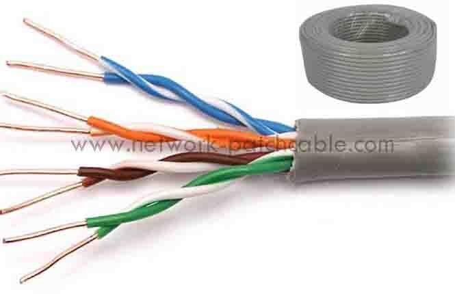 Customized Category 5e UTP Cable Cat5e UTP Cable PVC 100BASE-TX