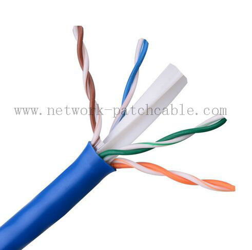 Four Pair HDPE Cat6 UTP Cable Cooper Clad Aluminum / Bare Cooper
