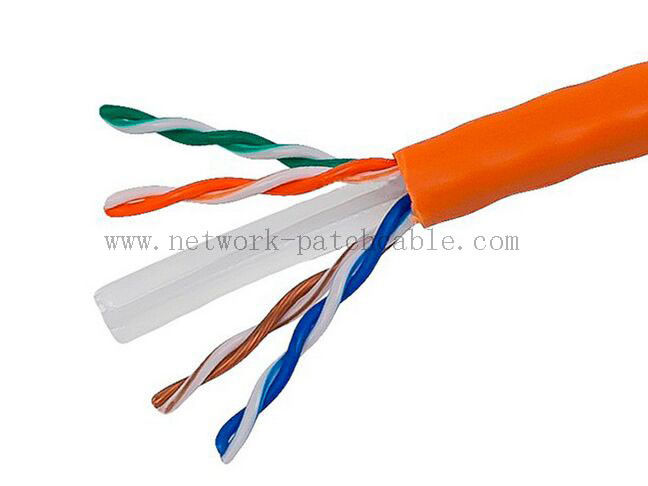 CE Certificated Cat6 Shielded Outdoor Cable Flame Retardant PVC