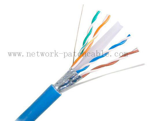 Solid Bare Copper Cable Cat6 FTP Ethernet Cable 0.58mm 300 m/roll