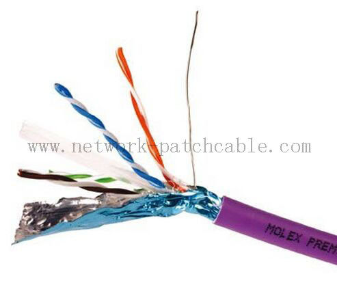 RoHS CE ISO Cat6 FTP Cable Copper Cat 6 Plenum Rated Cable Waterproof