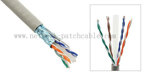Indoor Network Gigabit Ethernet CAT6 UTP Cable 23AWG 4Pair 305m/roll Grey