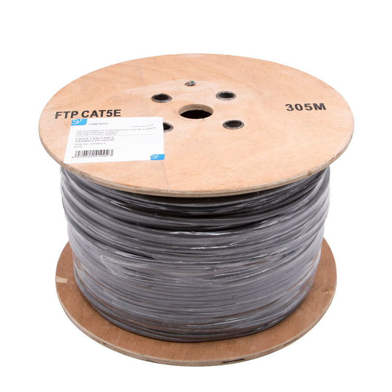 Category 5e FTP Ethernet cable / 24AWG cat5e lan cable Grey PVC