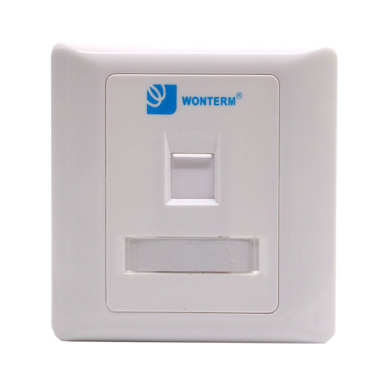 RJ45 1 Port CAT6 / Cat5e Keystone Faceplate Flush Mount Wall Plate