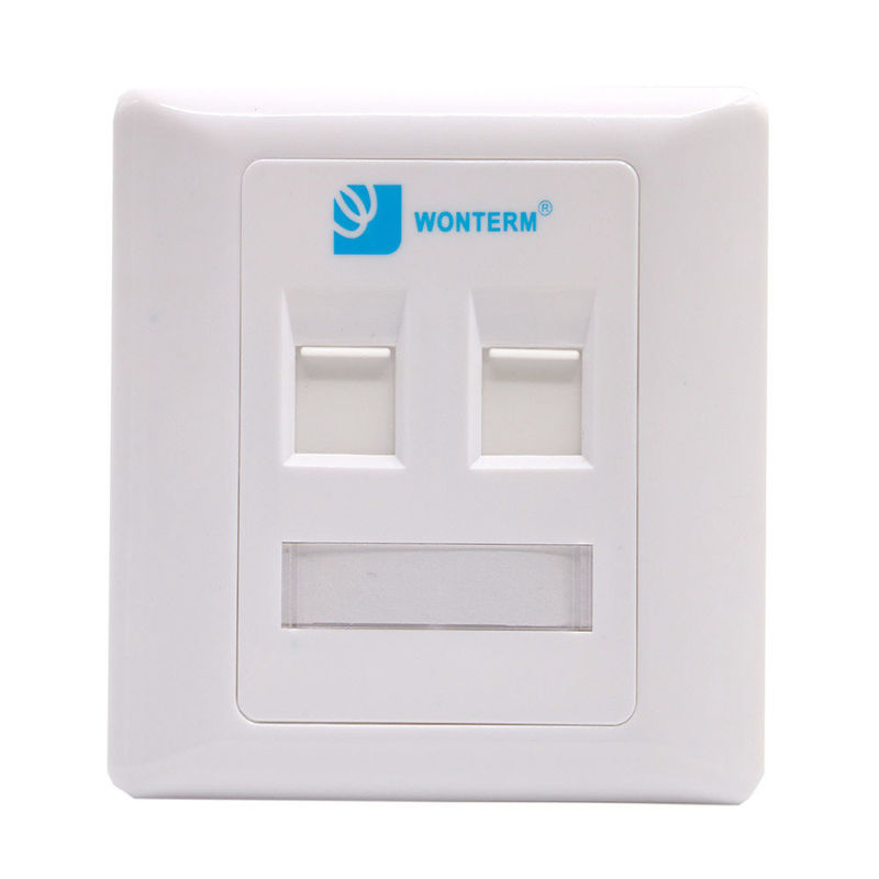 PC / ABS Network Keystone Faceplate / RJ45 Face Plate 2 Port 86*86mm