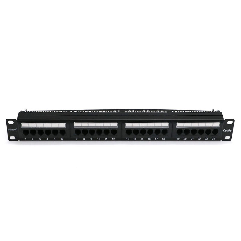 Wallmount 24 Port Cat5e Keystone Patch Panel , RJ45 Etherne Patch Panel With Patch Cord