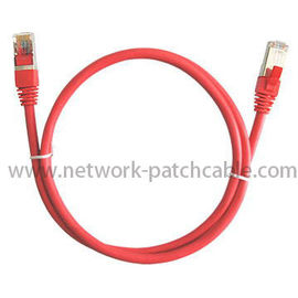 China 6 Inch Cat5e Patch Cables UTP Copper Pass Fluke Red For Computer factory