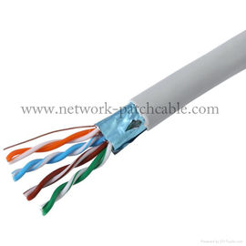 China Computer 4P Cat 5e FTP Cable 24AWG LAN Cable IEC60332-1 1000 ft/box factory