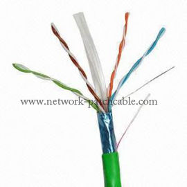 China Green 4 Pair 23Awg Outdoor Cat6 Ethernet Cable Cat6 Crossover Cable factory