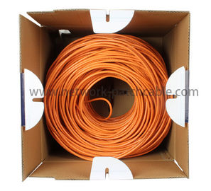 China PE Insulation Network Cat5e SFTP Cable Lan Cables 500 m/roll Orange factory