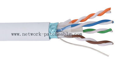 China PE Insulation FTP Cat6 Cable Copper Drak Grey with Aluminum Foil factory