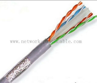 China 1000ft Solid 0.51mm Cat6 SFTP Cable 23AWG Twisted Pair Wire Grey factory