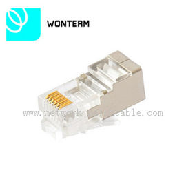 China Cat6 Shielded Rj45 Plug Crystal Head 8p8c Rj45 Connector Jack factory