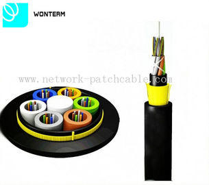 ADSS Optical Fiber Cable All Dielelectric Self - Support With Aramid Yarn