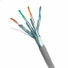 China Pure Copper Cat 7 Network Cable , Shielded Twisted Pair Cat7 Lan cable factory