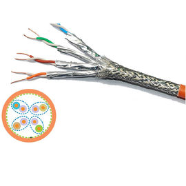 Sftp 4 Twisted Pairs Cat 7 Network Cable With Aluminum Foil  , 23awg Lszh cat7 network cable