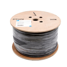 PE Insulation Network Cat5e Sftp Cable / 100% Copper Lan Cables 305 M / Roll