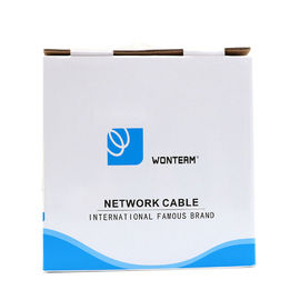 Network 100m UTP Bare Copper Category 5e / Cat5e UTP Cable , 0.5mm Twisted